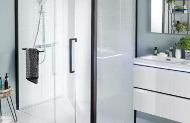 LAPEYRE douche deco noire L 160 cm