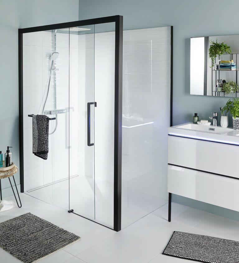paroi de douche déco tendance minimaliste et prix