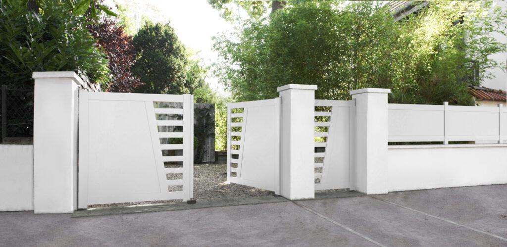 201411201 lapeyre portail battant pvc carnac blanc. Black Bedroom Furniture Sets. Home Design Ideas