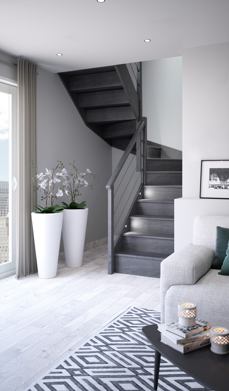 201516611 lapeyre escalier quart tournant milieu sapin. Black Bedroom Furniture Sets. Home Design Ideas