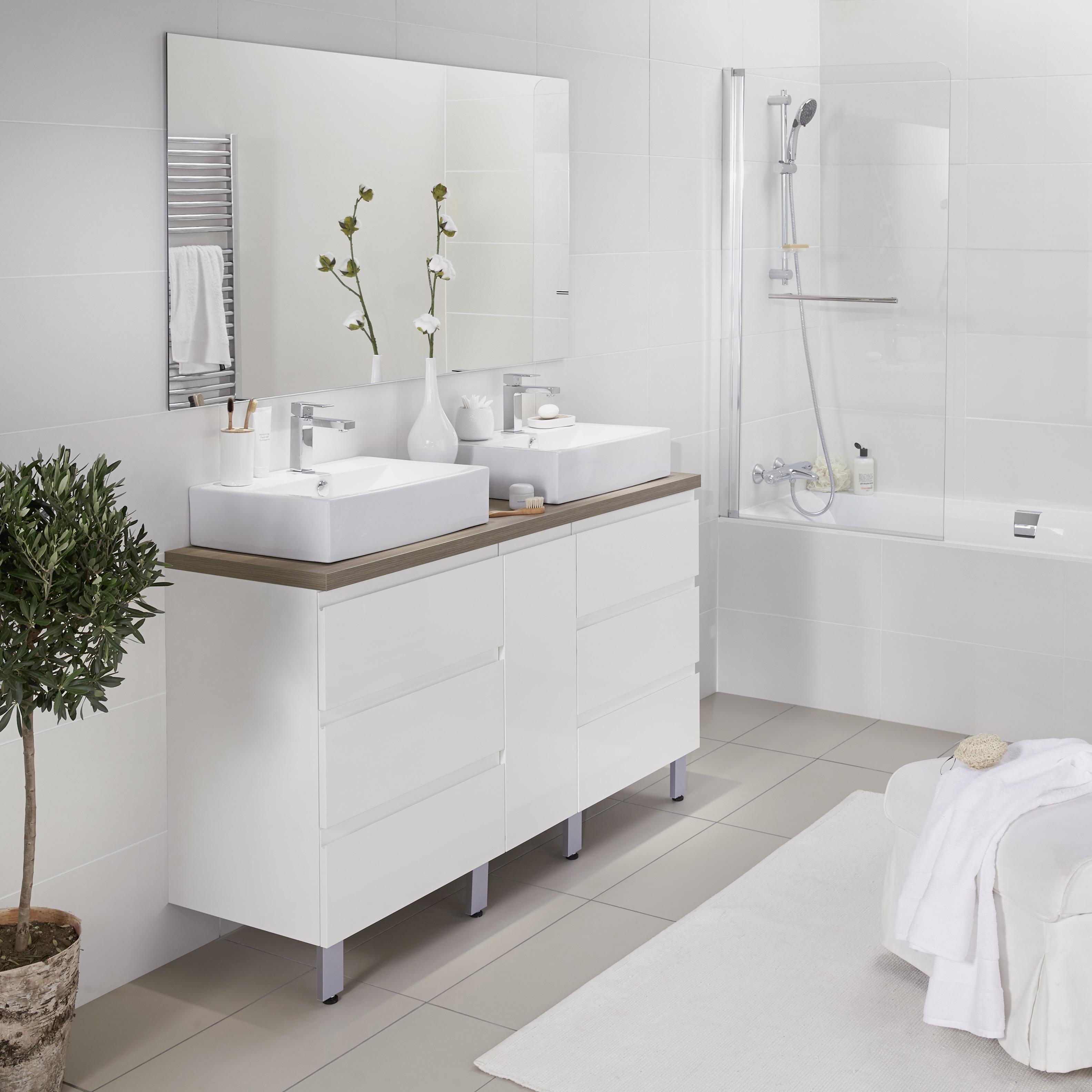 Salle De Bain Creamix ~ 201618826 lapeyre meuble creamix 150 cm blanc lapeyre presse