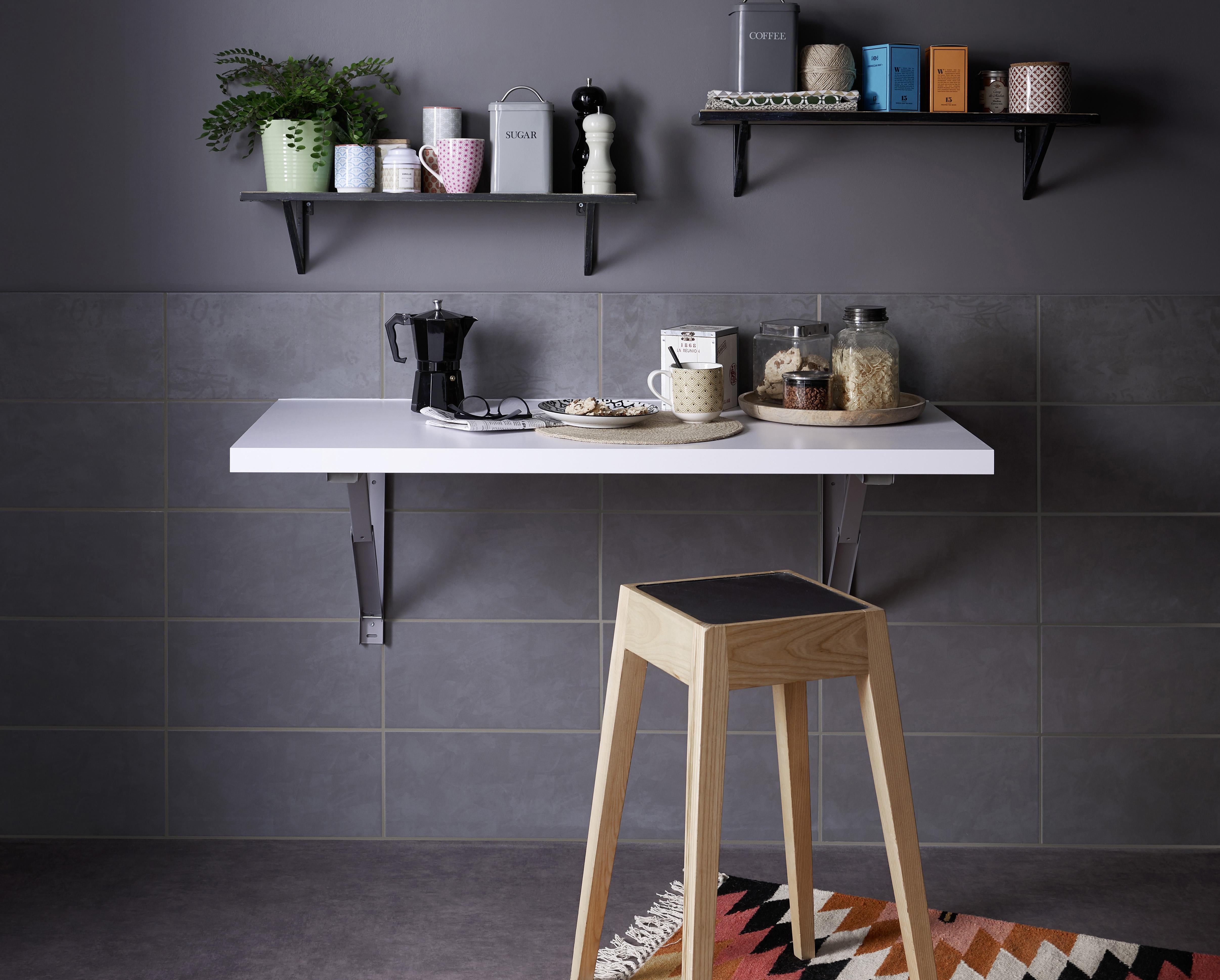 201721196 lapeyre carrelage de cuisine fusion gris avec et sans motifs lapeyre presse. Black Bedroom Furniture Sets. Home Design Ideas