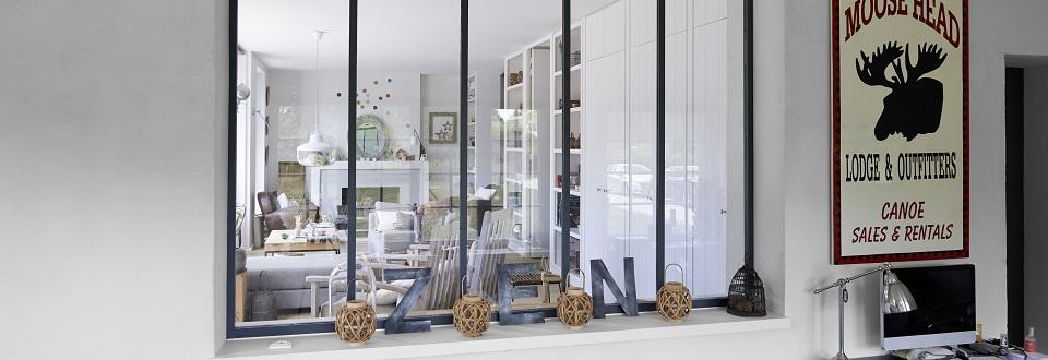 verri re en aluminium un esprit atelier accessible tous lapeyre presse. Black Bedroom Furniture Sets. Home Design Ideas