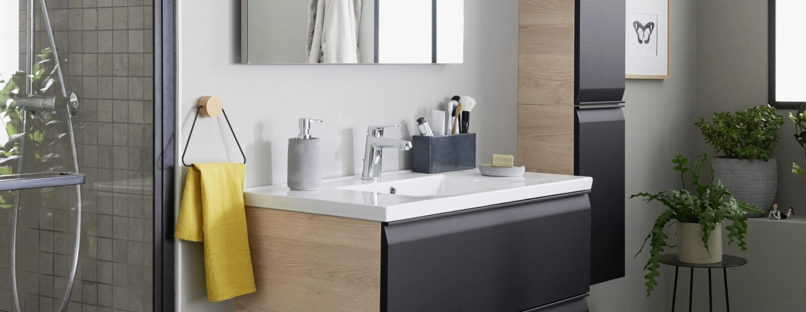 Lapeyre presse - Meuble salle de bain 90 cm lapeyre ...